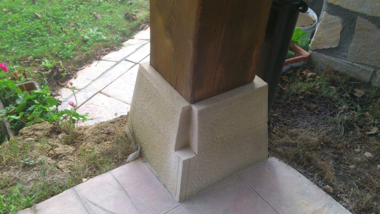 de las columnas y laterales en incluyendo puerta hecha totalmente artesanal para satisfacer demanda del cliente